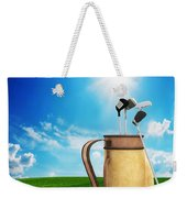 Golf Equipment And Ball On Golf Course Weekender Tote Bag