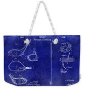 Golf Patent History Drawing Blue Weekender Tote Bag