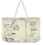 Golf Patent History Drawing Weekender Tote Bag