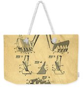 Golf Putter Patent Weekender Tote Bag by Edward Fielding