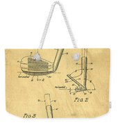 Golf Sand Wedge Patent On Aged Paper Weekender Tote Bag