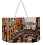 Gondola On A Venetian Canal Weekender Tote Bag