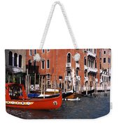 Gondolas In A Canal, Grand Canal Weekender Tote Bag