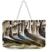 Gondolas-in-waiting   Venice Weekender Tote Bag