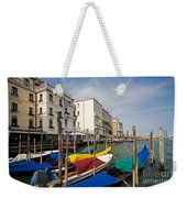 Gondolas On The Grand Canal Weekender Tote Bag
