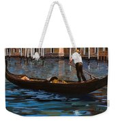 Gondoliere Sul Canale Weekender Tote Bag