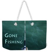 Gone Fishing At The Pier With My Rod And Reel Weekender Tote Bag