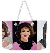 Good And Plenty Jackie O  Weekender Tote Bag by Candace Lovely