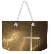 Good Friday In Sepia Texture Weekender Tote Bag