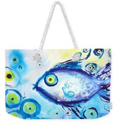 Good Luck Fish Abstract Weekender Tote Bag