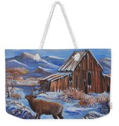 Good Morning Elk Weekender Tote Bag