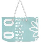 Good Things Blue Weekender Tote Bag