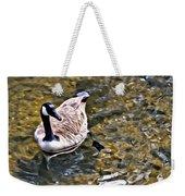 Goose In The Water Weekender Tote Bag