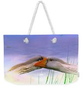 Goose Kiss - Featured In Comfortable Art - Nature Wildlife - Wildlife Groups Weekender Tote Bag