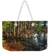 Goose Lake Twilight Weekender Tote Bag