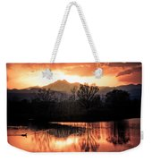 Goose On Golden Ponds 1 Weekender Tote Bag