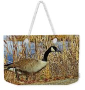 Goose On The Edge Weekender Tote Bag