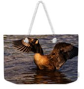 Goose Preparing For Flight Weekender Tote Bag