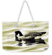 Goose Reflecting In The Water Weekender Tote Bag