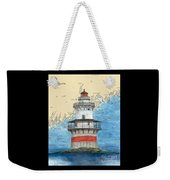 Goose Rocks Lighthouse Me Nautical Chart Peek Art Weekender Tote Bag