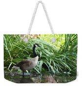 Goose Walking Back In For A Swim Weekender Tote Bag