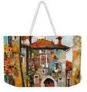 Gordes- Colorful Street Weekender Tote Bag