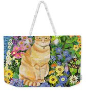Gordon S Cat Weekender Tote Bag by Hilary Jones