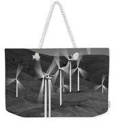 Gorge Windmills B W Weekender Tote Bag