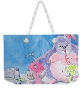 Gorilla Cartoon Weekender Tote Bag