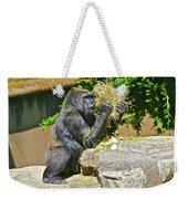 Gorilla Eats Weekender Tote Bag