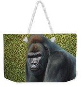 Gorilla With A Hedge Weekender Tote Bag by James W Johnson