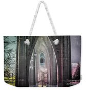 Gothic Arches Hands Folded In Prayer Weekender Tote Bag