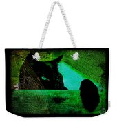 Gothic Black Cat Weekender Tote Bag