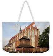 Gothic Church Of St. Catherine In Krakow Weekender Tote Bag