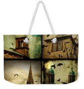 Gothic Churches And Crows Weekender Tote Bag