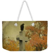 Gothic Fall Crow Weekender Tote Bag