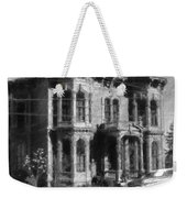 Gothic House Black And White Weekender Tote Bag