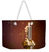 Gothic Scene With Candle And Gilt Edged Books Weekender Tote Bag