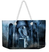 Gothic Surreal Angel In Mourning With Ravens Weekender Tote Bag