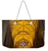 Gothic Vault Of The Seville Cathedral Weekender Tote Bag