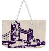 Gothic Victorian Tower Bridge - London Weekender Tote Bag