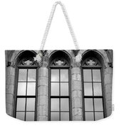 Gothic Windows - Black And White Weekender Tote Bag