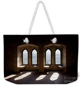Gothic Windows Of The Royal Residence In The Leiria Castle Weekender Tote Bag