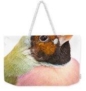 Gouldian Finch Erythrura Gouldiae Weekender Tote Bag