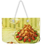 Gourmet Cover Featuring A Plate Of Beignets Weekender Tote Bag