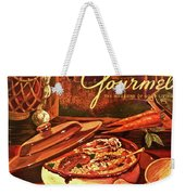 Gourmet Cover Featuring A Pot Of Stew Weekender Tote Bag