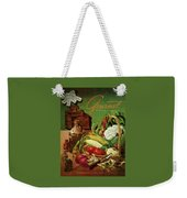 Gourmet Cover Featuring A Variety Of Vegetables Weekender Tote Bag