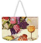 Gourmet Cover Featuring Sweetbread And Asparagus Weekender Tote Bag