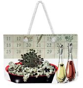 Gourmet Cover Illustration Of A Bowl Of Salad Weekender Tote Bag