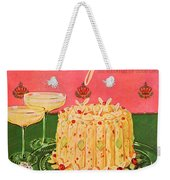 Gourmet Cover Illustration Of A Molded Rice Weekender Tote Bag